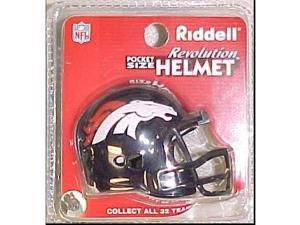 Creative Sports RPR-BRONCOS Denver Broncos Riddell Revolution Pocket Pro Football Helmet