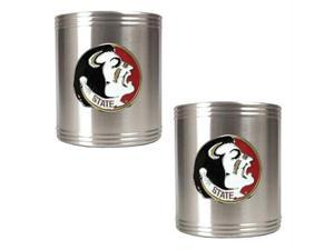 Great American Products Florida State Seminoles NCAA 2pc Stainless Can Holder Set