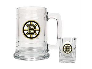 Great American Products Boston Bruins NHL Boilermaker Set - Primary Logo