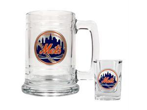 Great American Products New York Mets MLB Boilermaker Set - Primary Logo