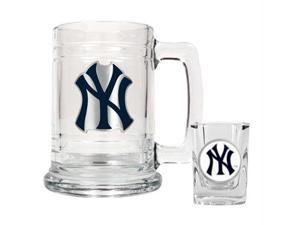Great American Products New York Yankees MLB Boilermaker Set - Primary Logo