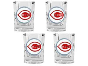 Great American Products Cincinnati Reds MLB 4pc Square Shot Glass Set