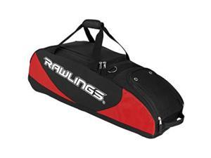 "Rawlings PPWB-S 35"" L x 10.5"" W x 11.5"" H Bat Bag Wheeled Scarlet - Red 4"