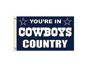 Fremont Die- Inc. 94103B 3 Ft. X 5 Ft. Flag W/Grommetts - Dallas Cowboys