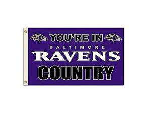 Fremont Die- Inc. 94131B 3 Ft. X 5 Ft. Flag W/Grommetts - Baltimore Ravens