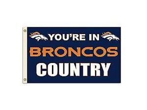 Fremont Die- Inc. 94132B 3 Ft. X 5 Ft. Flag W/Grommetts - Denver Broncos
