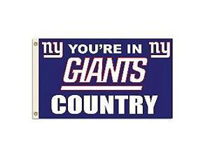 Fremont Die- Inc. 94175B 3 Ft. X 5 Ft. Flag W/Grommetts - New York Giants
