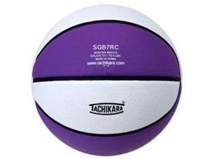 Tachikara SGB7RC.PRW Indoor-Outdoor Rubber 29.5 Basketball - Purple-White