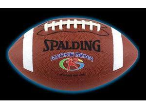 Spalding 62-989E Rookie Gear Brown Composite Football - Pee Wee Size