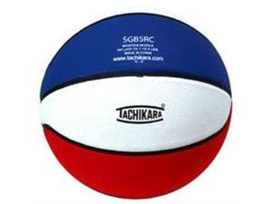 Tachikara SGB5RC.SWR Rubber Basketball - Junior Size - Scarlet-White-Royal