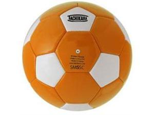 Tachikara SM5SC.ORW Man-Made Leather Soccer Ball - Size 5 - Orange-White