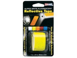 Incom Manufacturing 1in. X 24in. Lime Super Bright Fluorescent Reflective Tape  RE18