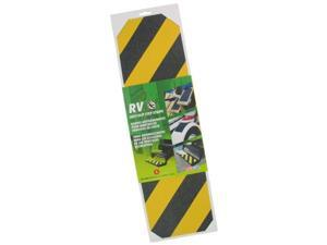 Incom Manufacturing 6in. X 21in. Yellow & Black Anti Slip Self Adhesive Grit Strip