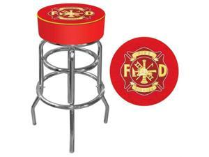 "Poker FF1000 30"" Fire Fighter Logo Padded Bar Stool"