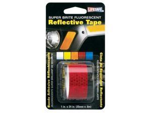 Incom Manufacturing 1in. X 24in. Red Super Brite Fluorescent Reflective Tape  RE183