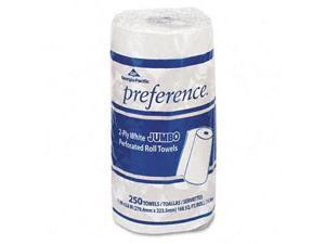 Georgia Pacific 27700 Perforated Paper Towel, 8-7/8 x 11, White, 250/Roll, 12/Carton