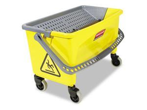 Rubbermaid Q90088YW Press Wring Bucket for Microfiber Flat Mops  Yellow