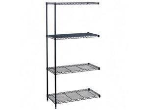 Safco 5286BL 18 x 36 Inch Wire Add On Unit in Black