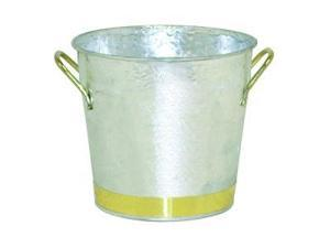 Brinkmann 880-6801-L  2 Quart Pail with Brass Trim- Silver