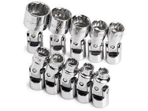 "SK Hand Tool SK 4935 10 Piece .25"" Drive 12 Point Flex Fractional Socket Set"
