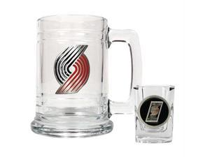 Great American Products Portland Trail Blazers NBA Boilermaker Set - Primary Logo