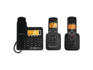 Motorola L703C Dect 6.0 Corded-Cordless Phone System With Digital Answering System - 2 Cordless Han