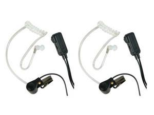 Midland AVPH3-CL In Ear Spkr-Vox-Ptt-Dual Pin Clear Tubin