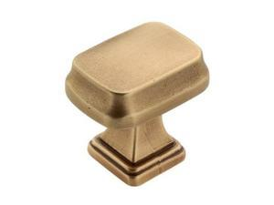 Amerock BP55340-GB 1.25 in. x 1 in. Oval Knob - Gilded Bronze