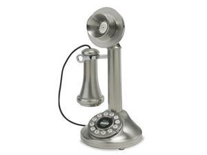 Crosley CR64-BC 1920's Candlestick Phone - Brushed Chrome