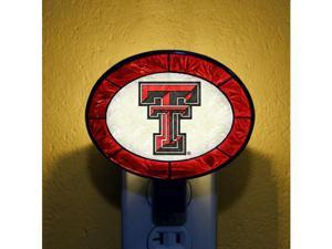 Memory COL-TXT-246 Art-Glass Nightlight-Texas Tech