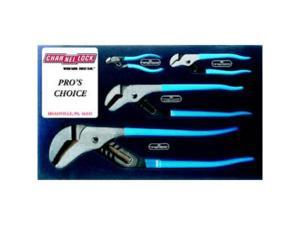 Channellock CHAPC1 Pit Crew's Choice- Tongue and Groove Pliers Set 4 Pc