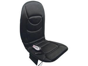 RoadPro RP-1368HM 12-Volt 5 Motor Massaging Seat with Heated Lower Back Cushion Black