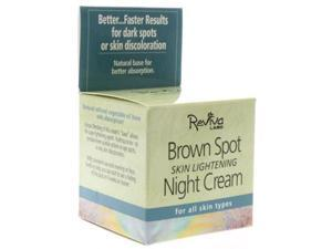 Reviva Labs Brown Spot Skin Lightening Night Cream 42g/1.5oz - For All Skin Types