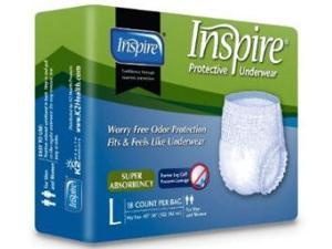 K2 Health Products PTUSA4L Inspire Protective Underwear - Pull-ups Size Large - Case of 72