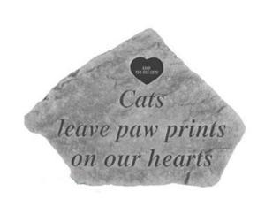 Kayberry 53621 Cats leave...For local engraving with Heart