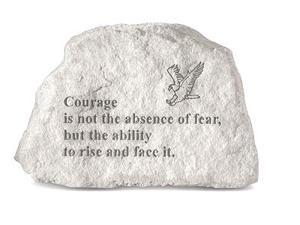 Kay Berry 70840 Courage Is Not The absence...-with Eagle