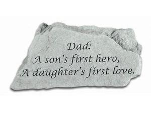 Kay Berry- Inc. 47020 Dad - A Sons First Hero - Memorial - 5.5 Inches x 3.25 Inches