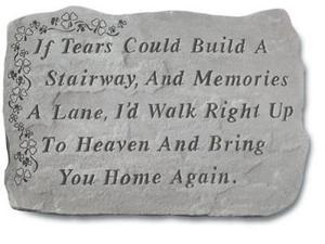 Kay Berry- Inc. 90120 If Tears Could Build A Stairway - Memorial With Shamrocks - 18 Inches x 13 Inches