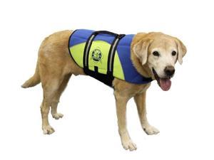 Hunter K9 Designs BY1100 XX Small Neoprene Dog Life Jacket - Blue and Yellow