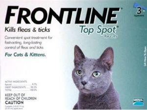Merial TOPSPOT3-GREEN Frontline Topspot 3 Pack Cat All Sizes - Green