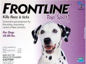 Merial TOPSPOT3-PURPLE Frontline Topspot 3 Pack Dog 45-88 Lbs. - Purple