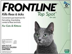 Merial TOPSPOT6-GREEN Frontline Topspot 6 Pack Cat All Sizes - Green