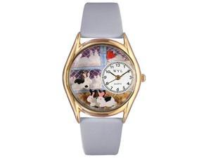 Bunny Rabbit Baby Blue Leather And Goldtone Watch #C0110008