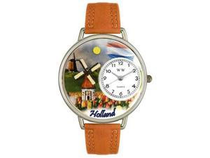 Holland Tan Leather And Silvertone Watch #U1420007
