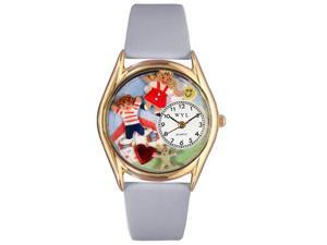 Day Care Teacher Red Leather And Goldtone Watch #C0640007