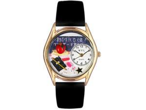 Kindergarten Teacher Red Leather And Goldtone Watch #C0640010
