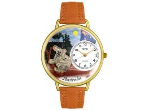 Australia Tan Leather And Goldtone Watch #G1420001