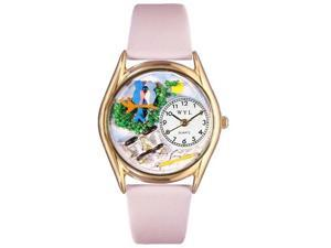 Bird Watching Yellow Leather And Goldtone Watch #C0150012