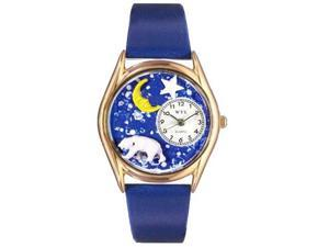 Polar Bear Royal Blue Leather And Goldtone Watch #C0150014