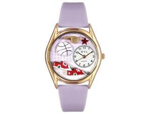 Volleyball Lavender Leather And Goldtone Watch #C0820021